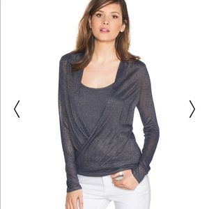 White House Black Market Shimmer Surplus Sweater